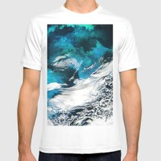 Sky&Water White Mens Fitted Tee MEDIUM