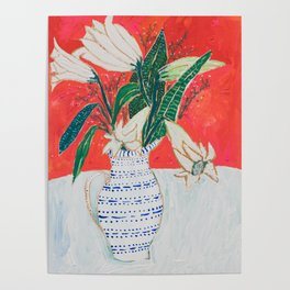 Easter Lily Bouquet Poster