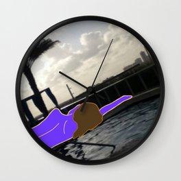 Violet Delights Wall Clock