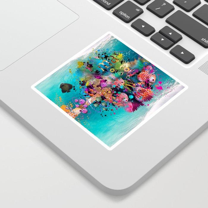 Surfing Palm Sticker