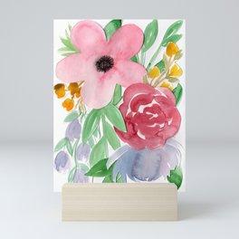 Floral Watercolor Bouquet no. 2 Mini Art Print