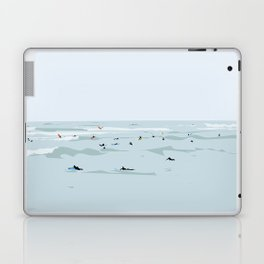 Tiny Surfers in Lima Illustrated Laptop & iPad Skin