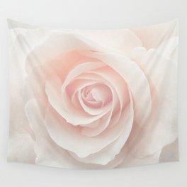 Blush Pink Rose Wall Tapestry
