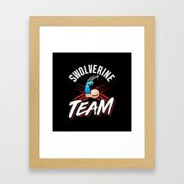 Swolverine Team Framed Art Print