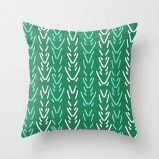 Minimal green and white pattern design spring garden botanical minimalism Throw Pillow