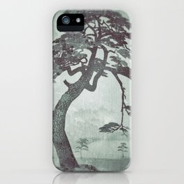 Old Man Standing - Looking through the Window Pane iPhone Case