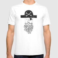 smug pirate Mens Fitted Tee White MEDIUM