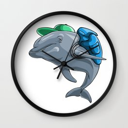 Dolphin Back to School Kids Pre-School Elementary Wall Clock