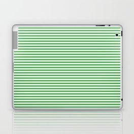 Even Horizontal Stripes, Green and White, XS Laptop & iPad Skin