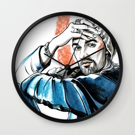 male portrait #1 Wall Clock