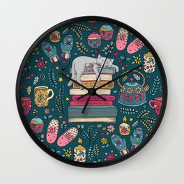 How to Hygge Like a Cat Wall Clock