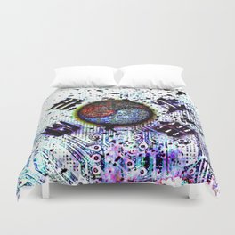 in to the sky, circuit board (south korea) Duvet Cover