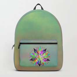 Mandala #106, Star Burst Backpack