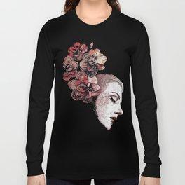 Obey Me: Blood (graffiti flower woman profile) Long Sleeve T-shirt