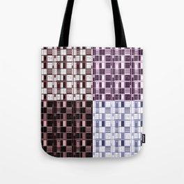 Wine -Cuadricula Tote Bag