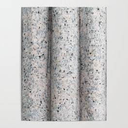 Carved Granite Curved Texture Poster