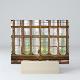 Window of an orangery Mini Art Print