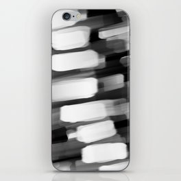 Racing City Lights - Black and White iPhone Skin