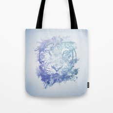 Abstract Watercolor Tiger Portrait / Face Tote Bag