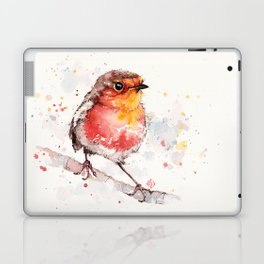 Adventure Awaits (Baby Robin Red Breast) Laptop & iPad Skin