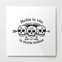 Media in vita in morte sumus Metal Print