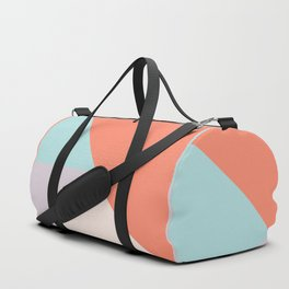 Geometric orange teal lavender color block pattern Duffle Bag