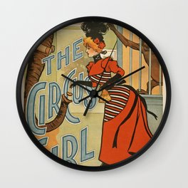 The Circus Girl vintage poster Wall Clock