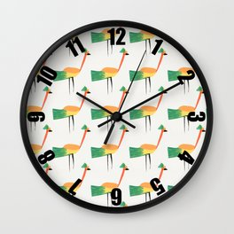 Fancy Birds Wall Clock