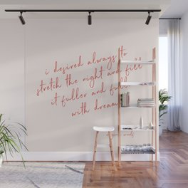 Stretch The Night - Virginia Woolf Wall Mural