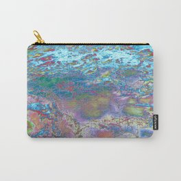 Psychedelic Ocean Water 2 -  Rainbow Carry-All Pouch