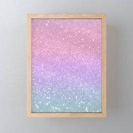 Unicorn Princess Glitter #1 #pastel #decor #art #society6 Framed Mini Art Print