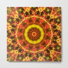 Mandala - Lush Glow Metal Print