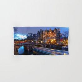 Amsterdam Tranquil Canal Scene, Netherlands Hand & Bath Towel