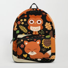 Autumn Party For Forest Friends Backpack