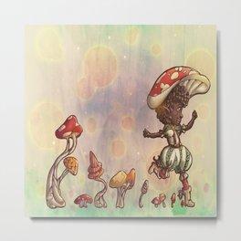 Mushroom Fairy Metal Print
