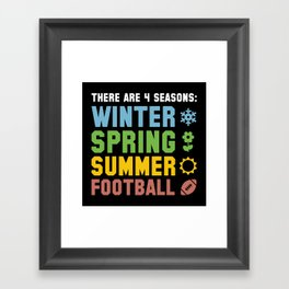 Four Seasons Football Framed Art Print