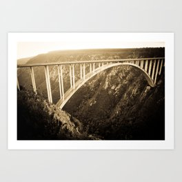 Bloukrans Bridge Bungee Art Print