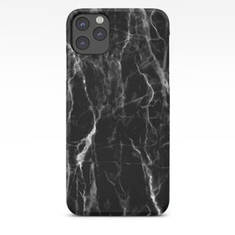 Black marble texture iPhone Case