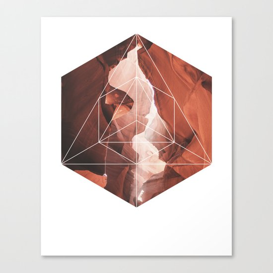 A Great Canyon - Geometric Photography Canvas Print