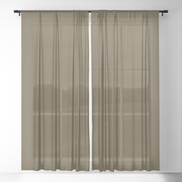 Martini Olive - Fashion Color Trend Fall/Winter 2018 Sheer Curtain
