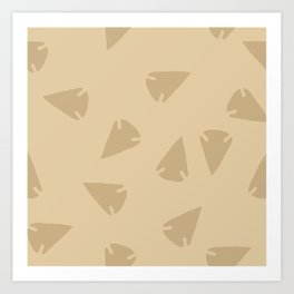 ARROWHEADS-BONE Art Print