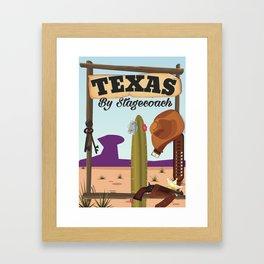 Texas By Stagecoach Framed Art Print