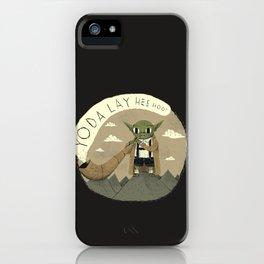 yodaling (grey colour option) iPhone Case