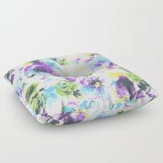 watercolor flowers pattern Floor Pillow
