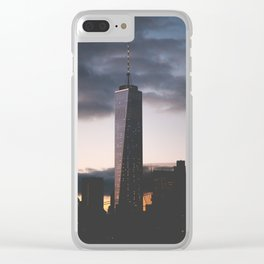 One World Trade Center Clear iPhone Case