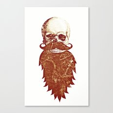 Beard Skull 2 Canvas Print