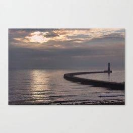 Roker Pier Sunderland Canvas Print