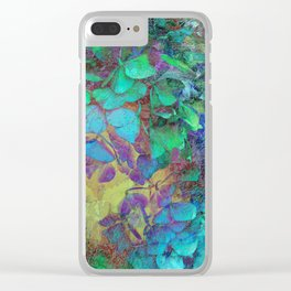 450 3 Abstract Hydrangea Clear iPhone Case