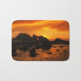Rocky Sunset Bath Mat