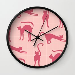 Frisky Cats Wall Clock